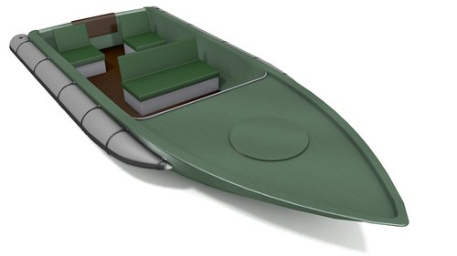 Removable inflatable edges for rigid boats